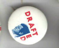 1972 pin  TED KENNEDY pinback  #10B DRAFT Ted Drafted SCRABBLE Configuration