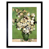 Van Gogh A Vase Roses 1890 Art Print Frame Framed Picture Poster Art 12x16 Inch