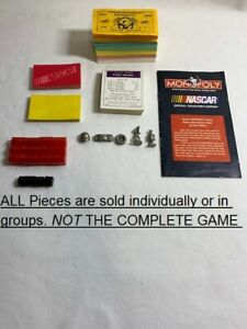U-PICK 1997 Nascar Collector's Edition Monopoly Game Replacement Pieces