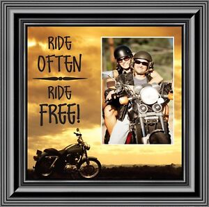 Ride Often, Ride Free, Harley Davidson Motorcycle Picture Frame, 10X10 9763B