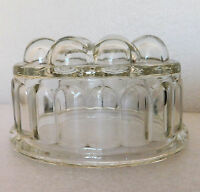 Vintage glass jelly mould in good condition large jello mold traditional design