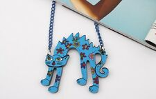 Cat Necklace Acrylic Pendant Colorful Cat Kitten Free Postage