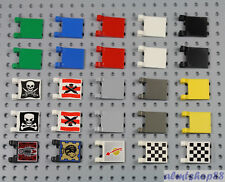 LEGO - 2x2 Flags - PICK YOUR COLOR - Trapezoid Banner Wavy Square Jousting Pole