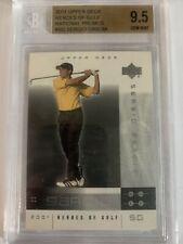 New listing 2001 Upper Deck Heroes of Golf National Promos Sergio Garcia BGS 9.5 GEM MINT