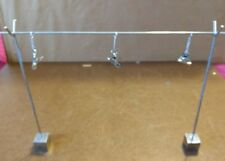 """Metal Desktop Photo or Note Holder Stand 16"""" Wide by 10"""" Tall Holds 3 Photos"""