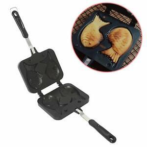 Taiyaki Fish Shape Cake Pan Waffle Cake Maker Pan Fish-Shaped Pancake Pan Manual
