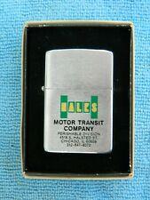 Rare Vintage Zippo Lighter, Hall's Motor Transit Company, Original Box
