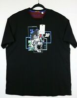 NWT Robert Graham Mens Size XL Eye Popping Black Short Sleeve T Shirt Skull