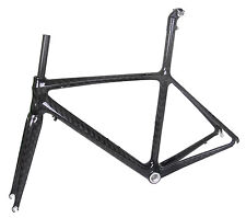 52cm BSA Carbon Road Bike Frame Fork Race Part 700C 12k glossy ISP Seatpost