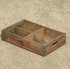 Vintage 1968  Coca-Cola Coke Wood Crate Soda Pop Enjoy Coke King Size Crate RARE