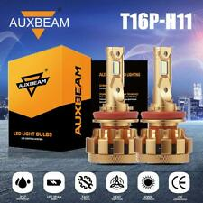 AUXBEAM H11 LED Bulb Headlights Super Bright Light AUTO PART T16P SERIES HID Kit