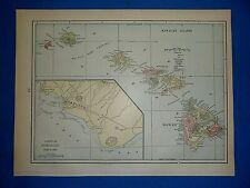 Kauai Hawaii c1878 map 30x24