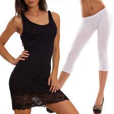 PACK Vestito canottiera copricostume VB0083 + leggings corti donna CC144