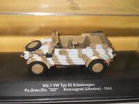 Volkswagen type 82 Kubelwagen Panzer Gren 1944 kirovograd WWII - 1/43 Eaglemoss