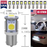 10pcs 24V BA9S 5050 5SMD 5LED Car LED Interior Dome Map Bulbs T4W H6W 363 Lights