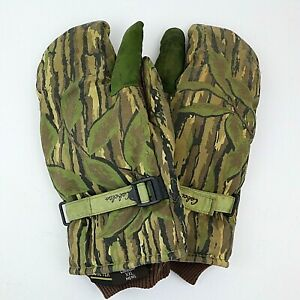 Cabela's Trigger Finger Mittens Mens XXL Gore-Tex Realtree Hunting Gloves