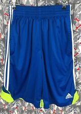 Adidas Climalite Boys Blue With White Stripe On Side Athletic Shorts Size Small