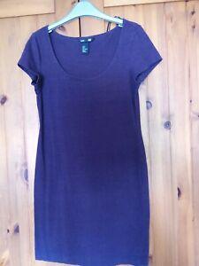 H&M Burgundy Longer Length Dress Top - Size S