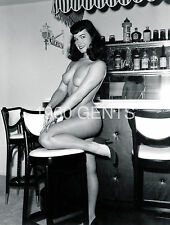 1950s NUDE 8X10 PHOTO BUSTY NICE ASS PINUP BETTIE PAGE FROM ORIGINAL NEG-3