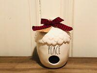 Rae Dunn Christmas Collection By Magenta Ceramic Acorn PEACE Birdhouse HTF