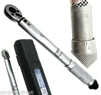 1/4'' Drive Torque Wrench Low Range Calibrated Certificate 5-25Nm Ratchet Bikes