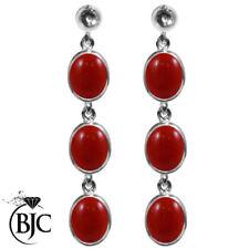 Pendientes de joyería con gemas mariposas rojo de oro blanco
