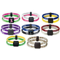 Trion Z Magnetic Healthy Ion Infused Energy Dual Wrist Band Bracelet Golf
