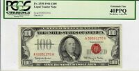 1966 $100 Legal Tender FR-1550  Red Seal Star Note PCGS EF 40 PPQ 7840