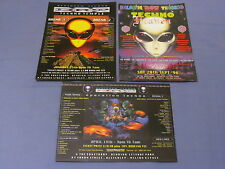 3 DRT OLDSKOOL INDUSTRIAL HARDCORE TECHNO GABBER RAVE FLYERS NORTH ALIEN GABBA