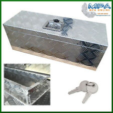 ALUMINIUM CHEQUER PLATE TOOL BOX - LOCK, WATER TRAP, IFOR WILLIAMS (640X230X230)