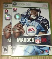 MADDEN 08 - XBOX 360 - COMPLETE WITH MANUAL - FREE S/H - (G3)