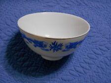 Darchung Bowl Blue Dragons Footed Soup Rice Bowl Dish Asian Syle