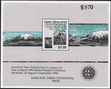 New Zealand 1987 NATIONAL PARKS Miniature Sheet ($1.30 value)  MNH SG MS1432