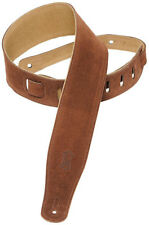 "Levy's MS26-BRN 2.5"" Suede-Leather Guitar/Bass Strap-Brown"