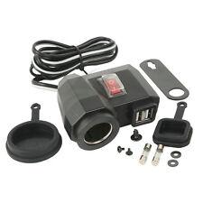 Universal 12V GPS USB Cigarette Lighter 2.1A Waterproof Power Port Outlet Socket