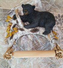 Rivers Edge Bear Tree Tissue Paper Holder Poly Resign Cabin Lodge Bathroom Gift