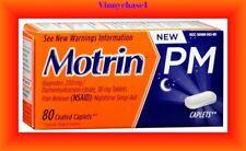 Motrin PM Caplets, 200 mg Ibuprofen & 38 mg Sleep Aid, 80 ct.