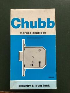 chubb mortice lock Security 5 Lever DeadLock 80 mm In Brass Finish