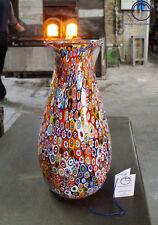 VASO IN VETRO DI MURANO. VENETIAN GLASS VASE WITH MURRINE MILLEFIORI