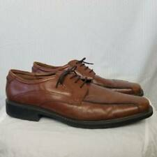 Ecco Mens Oxfords Brown New York Bicycle Toe Lace Up Dress Shoes 13 Eur 47