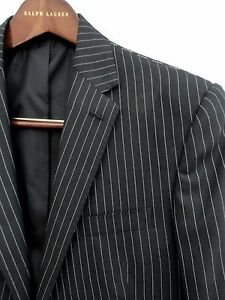Ralph lauren striped Wool suit IT50R Uk40R $4995 New Purple Label Blazer+pants