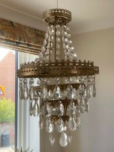 Laura Ashley Crystal Pendant Ceiling Light Shade - Easy Fit