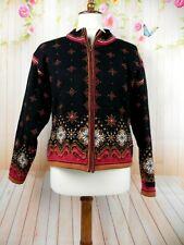 Dale of Norway Full Zip Lined Wool Sweater Jacket medium