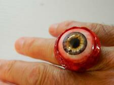 Halloween Horror Prop -  EYEBALL RING for costume or cosplay! (infected gray)