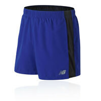 New Balance Mens Accelerate 5 Inch Running Shorts Pants Trousers Bottoms Blue