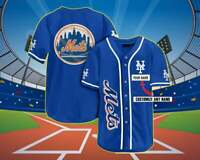 Personalized Gifts New York Mets Team Logo 3D Baseball Jersey Custom Name