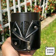 2019 Starbucks China 100% Genuine Cool Punk Leather 12oz Mug Cup & Cover Black