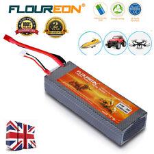 FLOUREON 2S 7.4V 5200mAh 30C LiPo Battery with T Plug for RC Models Car Truck UK