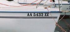 2 Custom Boat Name Speed Pontoon Fishing Vinyl Decal Lettering Pontoon Jet Skies