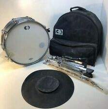 Cb Kaman Snare Drum chrome shell With Stand Sticks And Bag Nice 14�
